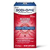 Probiotic Cardiologist Recommended‡ Capsules, Bodi-Ome Beating Heart (60 count in a box), Clinically Proven Shelf-Stable LRC Strain Probiotics for Women Men Adults, Microbiome