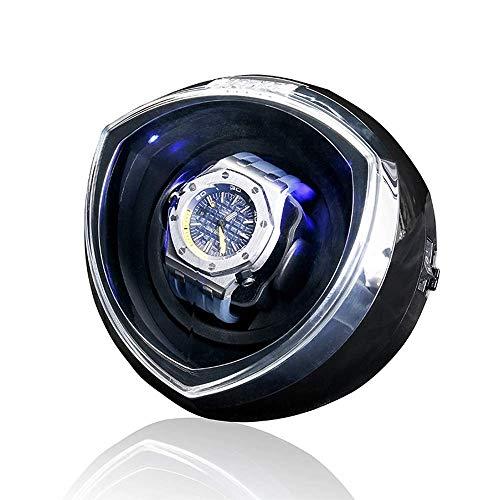 BSJZ Enrollador de Reloj de Forma mecánica únicamente, Motor Giratorio de Funcionamiento silencioso, Caja de Reloj mecánico automático con luz, 15,2 * 17,2 * 15,8 cm