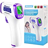 Bionso No Touch Forehead Thermometer for Adults and Kids, Fast and Professional Accurate, Upgraded Non Contact Digital Human Temperature Gun for Baby and Child, Infrared Object Thermometer Fever Alarm