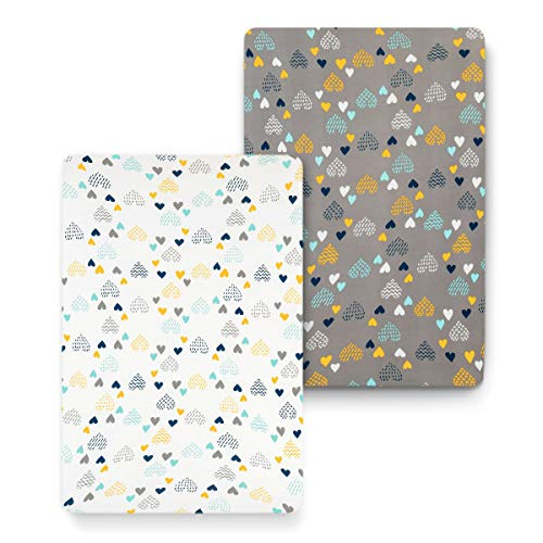 %52 OFF! COSMOPLUS Stretch Fitted Pack n Play Playard Sheets - 2 Pack for Mini Crib Sheet Set,Pack n...