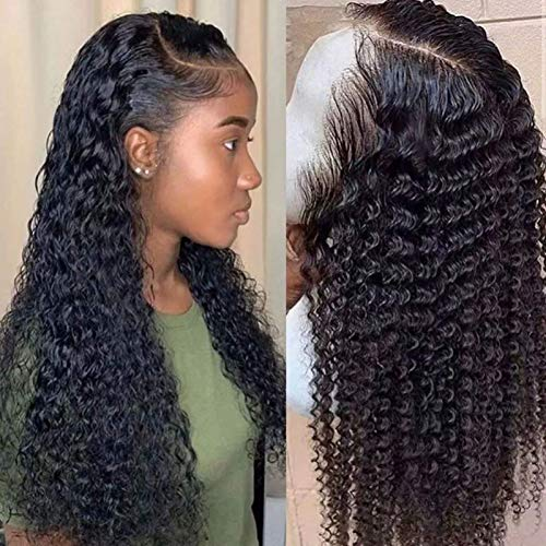 Deep Wave Lace Frontal Wig Curly Lace Closure Wigs Human Hair Wet And Wavy Part Long Human Wig