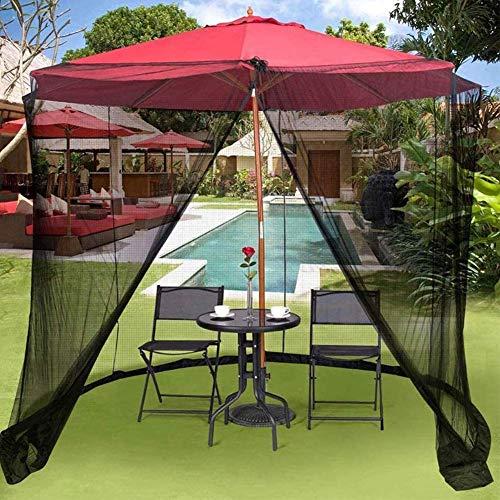 DSHUJC Garden Mosquito Cover, Umbrella Table Screen Parasol al Aire Libre Mosquitera Parasol Convertidor Cubierta Convierta su Parasol en un Gazebo Patio Mallas para toldos de Malla para