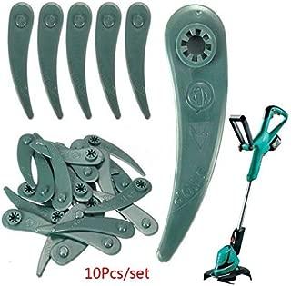 10Pcs/Set Lawn Mower Plastic Blade Grass Strimmer Trimmer Blade Blades Tool For Bosch ART 26-18Li, ART 23-18 Li,1083-B3-0009