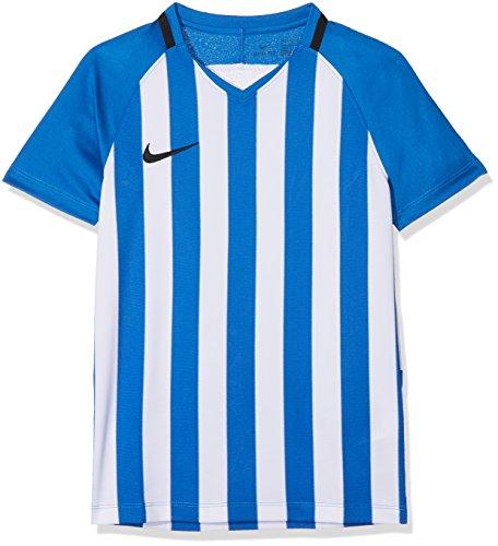 Nike Kinder Striped Division III Jersey SS Trikot, Mehrfarbig (Royal Blue/White/Black), L