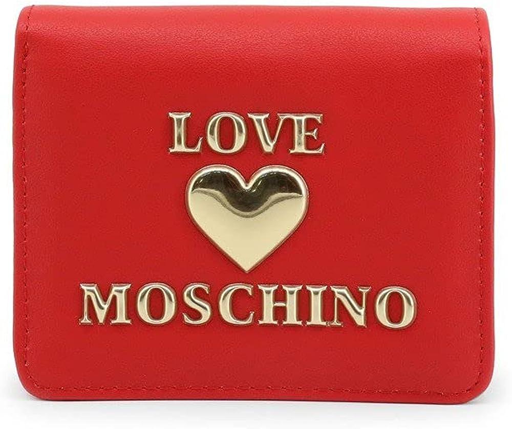 Love moschino, portafoglio da donna, porta carte di credito, in pelle sintetica JC5614PP1BLE0