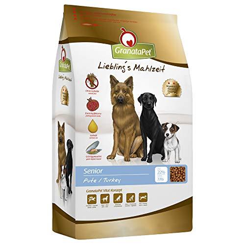 GranataPet Liebling's Mahlzeit Pute Senior, Trockenfutter für Hunde, Hundefutter ohne Getreide & ohne Zuckerzusätze, Alleinfuttermittel, 10 kg