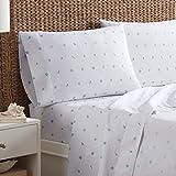 Southern Tide Home Sandy Shores Cotton Sheet Set, Queen, White
