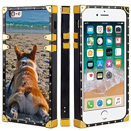 Naikuyi Funda para iPhone 6 Plus (6+) / 6S Plus (6S+) - Funda cuadrada para teléfono móvil con cuatro esquinas de protección de búfer fuerte pero no pesada