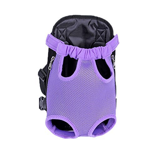 Kaisir Transportín mochila, ajustable para mascotas gato frontal perro bolsa mochila...
