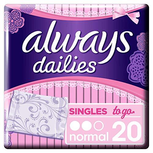 Always Singles To Go Slipeinlagen, Normal, 1er Pack (1 x 20 Stück)