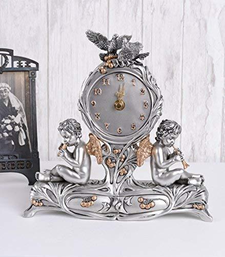 Kaminuhr Engel Uhr Antik Stil Amoretten Tischuhr Vintage Palazzo Exklusiv