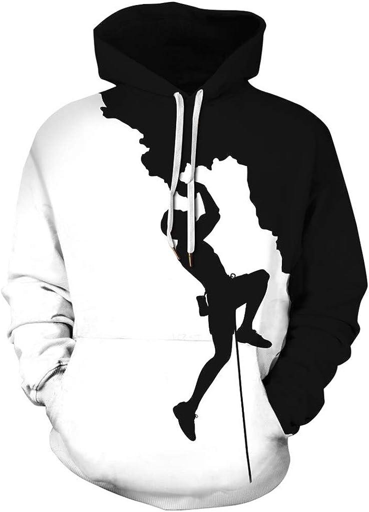 Men 3D Printed Skull Hoodie Halloween Pouch Pocket Drawstring Pullovers Sweatshirt Tops