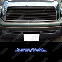 APS Compatible with 2007-2009 Toyota Tundra Black Billet Grille Grill Insert S18-H46456T