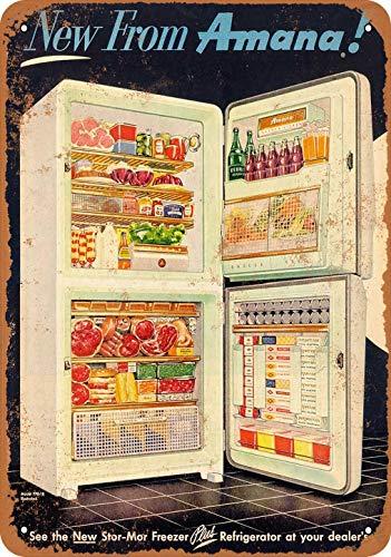 Plaque en métal pour réfrigérateur congélateur Amana - 20 x 30 cm - 20 x 30 cm - Décoration murale