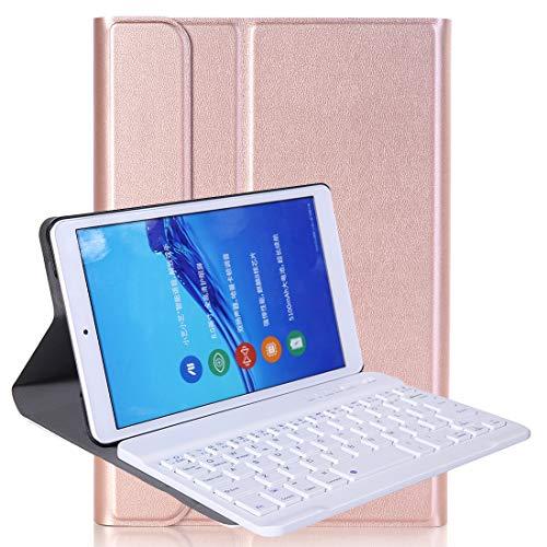 YEYOUCAI Accesorios para tabletas A0T8 para Huawei Matepad T8 8 Pulgadas ABS Ultra-Thin Setagle Teckable Teclado Teclado PU Funda Protectora de Cuero con Soporte