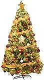 Árbol de Navidad Agujas de pino Árbol de Navidad con luz LED Ornamento de oro Decoración de vacaciones Premium ecológico PVC Árbol de Navidad natural Realista natural Árbol for el hogar ZSMFCD