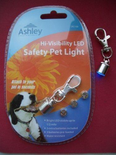 Hondenhalsband, LED, voor honden / huisdieren, veiligheidslicht, met reservebatterijen