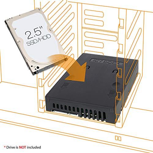 ICY DOCK 2,5 Zoll (6,4cm) zu 3,5 Zoll (8,9cm) SATA SSD/HDD Konverter EZConvert MB882SP-1S-1B