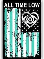 オールタイムローフラッグロックミュージックバンドアルバムキャンバス絵画ポスターhdプリント壁アートリビングルーム家の装飾 40X60cmフレームなし