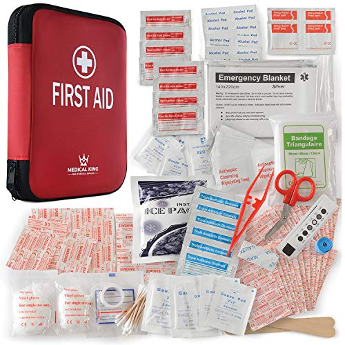 First aid kit 360 pcs AllPurpose First aid Supplies  Medical kit Protect for Most Injuries  Travel First aid kit Great for for Home or Work Plus Supplies for Camping Outdoor Emergencies amp More