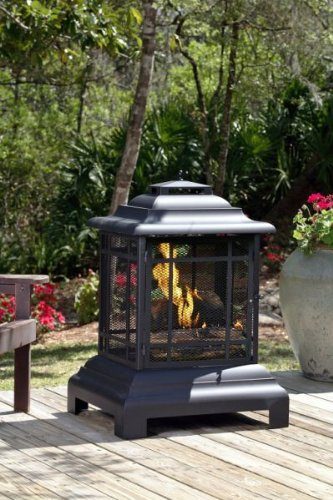 Best Deals! Rectangle Pagoda Patio Fireplace