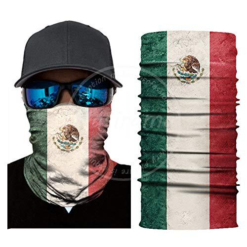 Mexico Vlag Sjaal Nek Gaiter Bandana Microvezel Zon Beschermende Nek Tube Ring Sjaals Mannen Hoofddeksels Polsband voor Vissen Motorfiets Fietsen