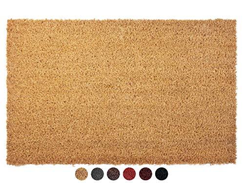 Primaflor - Ideen in Textil Kokosmatte Fußabtreter rutschfest Natur 40 x 60 cm - Fußmatte Kokos Fußabtreter rutschfest Haustür Innen & Außen, Sauberlauf
