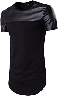 Best leather sleeve t shirt mens Reviews
