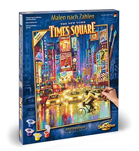 Schipper 609130815 Malen nach Zahlen, New York Times Square - Bilder malen für Erwachsene, inklusive Pinsel und Acrylfarben, 40 x 50 cm