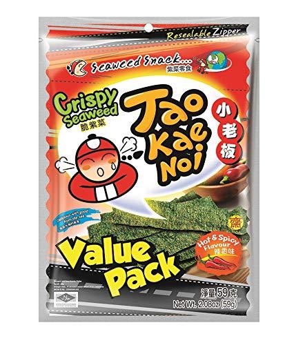 Taokaenoi Crispy Seaweed Hot and Spicy (Algensnack), 59 g