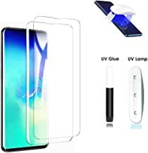 for Samsung Galaxy S10 Plus Tempered Glass Screen Protector- [2 Pack] Fingerprint Scaner 3D Full Curved Edge Friendly Anti...