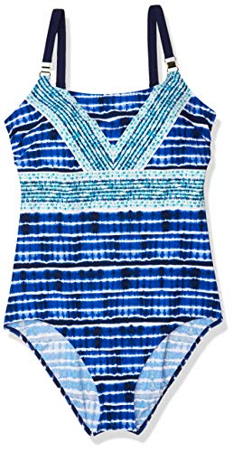 Christina Women's Camisole D-Cup One Piece Swimsuit, Tahitian Tide, 14