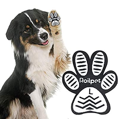 Roilpet Paw Pads for Dogs Traction - Provide Your Dog with Anti-Slip Grips from Slipping on Hardwood Floors, Especially for Senior Breeds for Indoors Wear (L)