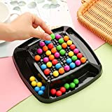 Rainbow Bead Game Puzzle Magic Chess Board Game Rainbow Ball Matching Toy Set for Kids Adult to Play Together