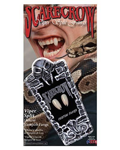 Horror-Shop Viper épouvantail dents de vampire Split