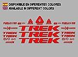 Ecoshirt 48-S05N-XLCJ Aufkleber Trek Fuel Ex 9.9 Bikes F144 Stickers Aufkleber Decals Autocollants Adesivi MTB BTT rot