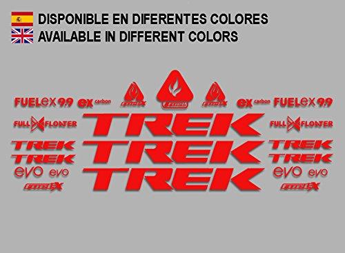 Ecoshirt 48-S05N-XLCJ Aufkleber Trek Fuel Ex 9.9 Bikes F144 Sticker Decals Aufkleber MTB BTT, Rot