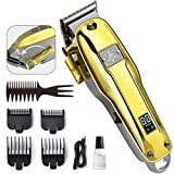 OriHea Hair Clippers for Men, Professional Barber Clippers Cordless Beard Trimmer Grooming Kit with LED Display, Rechargeable 2200mAh Battery for 6H Working, Upgraded Motor Powerful and Quiet