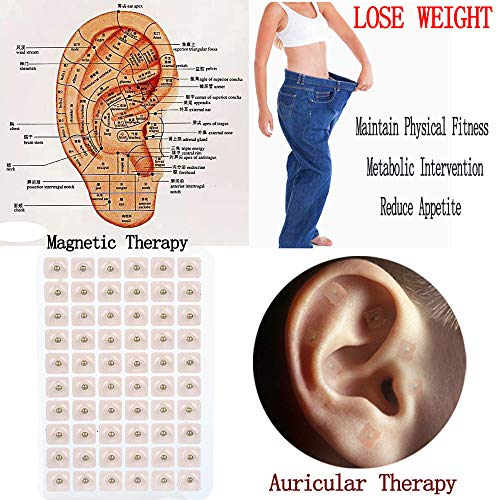 Ear Seeds,AutumnFall 300pcs Magnetic Therapy Ear Patch Auricular Auriculotherapy Acupuncture Seeds Paste (Gold)