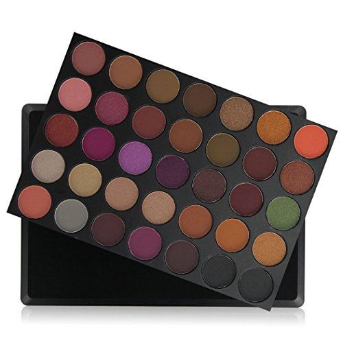 CRAVOG Professionelle Make-up 35 Farben schimmern/Matte Lidschatten Palette Frauen Set