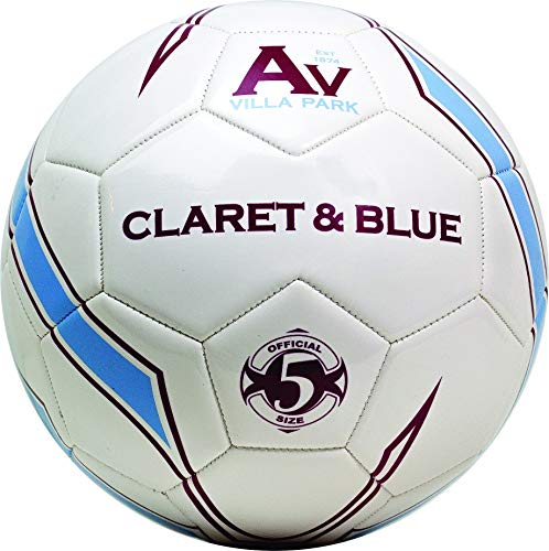 Aston Villa Claret/Blue Size 5 Football