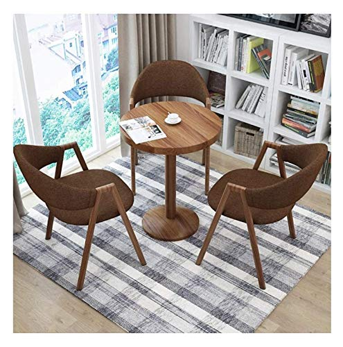 DYYD Home Living Room Tables and Chairs Creative Lounge Chair Kitchen Dining Table and Chair Set Simple 1 Table 3 Chairs Hotel Reception Lounge Table 60cm Solid Wood Round Table Office Meeting Room Lo