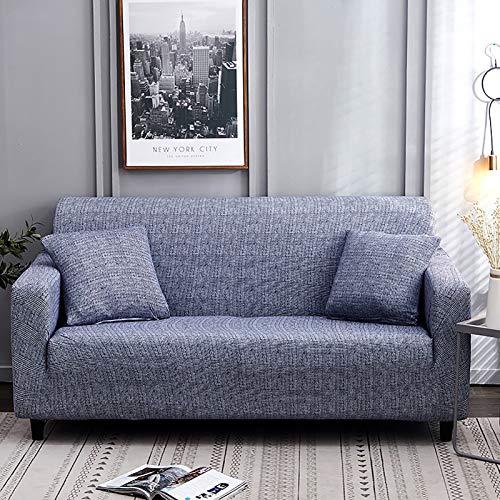 XQWZM Funda Elástica con Sofá Antideslizante,Modern Simplicity Pets Couch Cover,Protector De Muebles De Sofá De Poliéster De 1 Pieza,para La Sala De Estar-Azul 190-230cm(75-91inch)