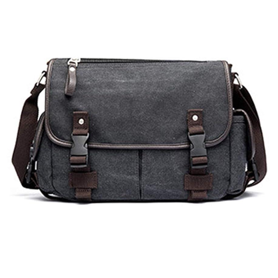 Canvas Man Bag Shoulder Crossbody Bag Business Laptop Men Messenger Bags Black Gray 38Cm25Cm8Cm