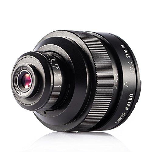 Zhongyi 20mm f / 2 4.5X Objetivo Lente Super Macro para cámara Canon EF Mount con TARION Bolsa