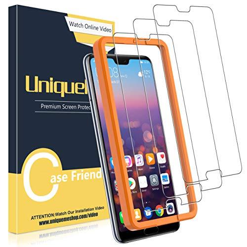UniqueMe [3 Pack] Protector de Pantalla para Huawei P20 Pro, Vidrio Templado [9H Dureza] HD Film Cristal Templado