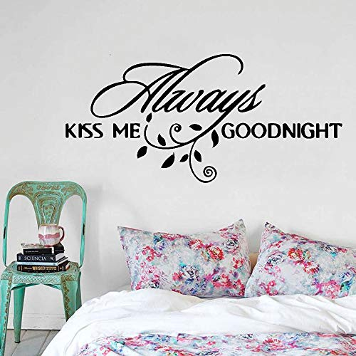 Etiqueta de la pared creativa romántica hoja de amor decoración de pareja dormitorio pared armario vinilo calcomanía
