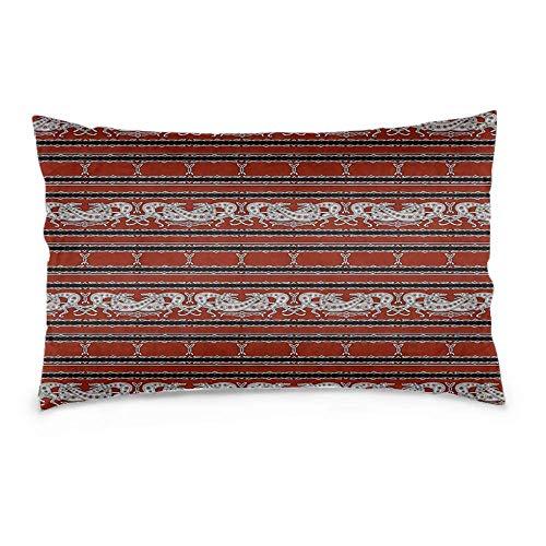 LAVYINGY Cotton Linen Throw Pillow Case Cushion Cover Rectangular Celtic Greyhounds Burgudy Grey Horizontal Version