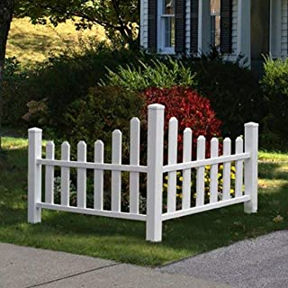 picket fence with arbor