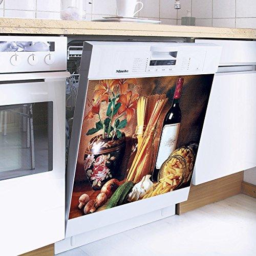 TRI Magnet-Deko, Deko Spülmaschine Bildschön 55 x 60 cm Küche Kühlschrank-Deko Dekoration schöner Leben